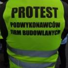 organizacja 40 dniowego protestu podwykonawców budowlanych pod Ministerstwem Infrastruktury