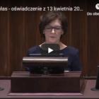 Oficjalne podziękowania z mównicy Sejmu RP dla Mariusza Miąsko za wdrożenie do porządku prawnego nowego typu umowy zatrudnieniowej